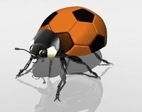 Marienkafer als Fusball