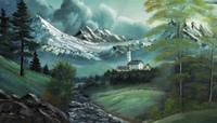 Berge gemalt