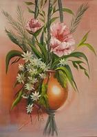 Blumenampel gemalt