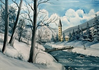 Winterlandschaft gemalt