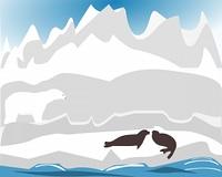 Eisbar bei der Jagd nach Robben