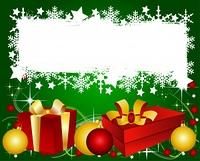 Grune Weihnachtskarte