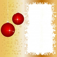 Goldene Weihnachtskarte mit Platz fur ihren Text