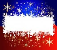 Bicolor Weihnachtshintergrund - Ihr Text hier