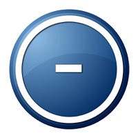 Blue Button Minus