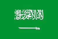 The national flag of Saudi Arabia