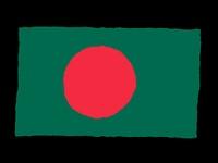Handdrawn flag of Bangladesh