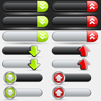 Upload and Download Button Set