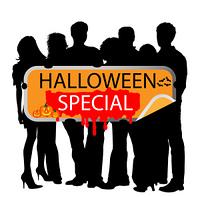 Gruppe Menschen - Halloween Special