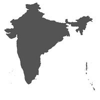 Karte von India - isoliert