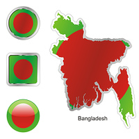 bangladesh map and internet buttons