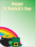 Happy St-Patrick themed background