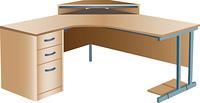 Angled corner office desk
