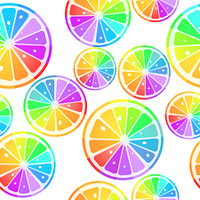 lemons in rainbow colors
