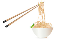 noodles with chopstick
