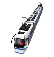 tramway over white