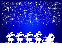 Hintergrund Weihnachtsmann mit Schlitten
