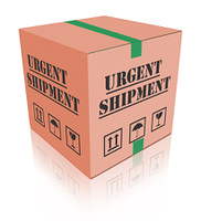 urgent shipping package cardboard box