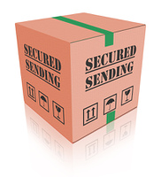 secured sending shipping package cardboard box
