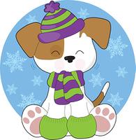 Cute Puppy Winter