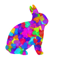 Valentines Day Hearts Bunny Rabbit Illustration