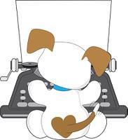 Cute Puppy Typewriter