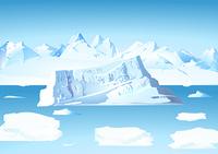 Eisberg mit Gletscher