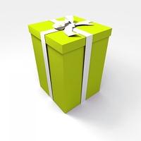 Big green gift box