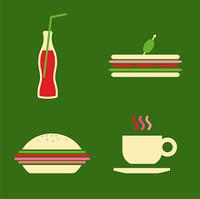 Fast food icons set