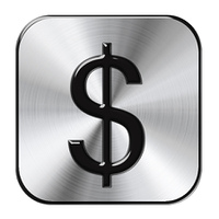 Chrome Dollar Button