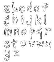 handwritten alphabets