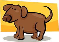 cartoon doodle of dog