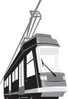 Modern Streetcar Tram Train