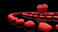 Herzkreise Rot Schwarz 05