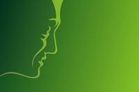 Man profile green
