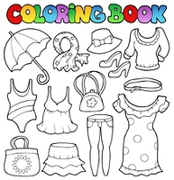 Coloring book clothes theme 2