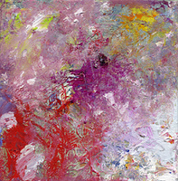 pastose acryl- und olfarbtexturen auf leinwand