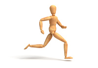 Run to target (with clipping path)