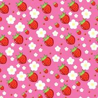 Seamless texture of strawberries
