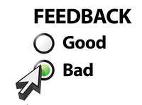 bad selected on a feedback question