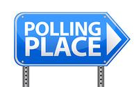Polling place sign illustration design