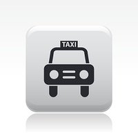 Single isolated taxi icon