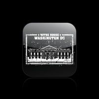 Vector illustration of single White House icon