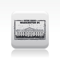 Vector illustration of single washington icon