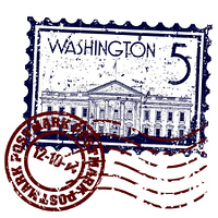 Vector illustration of isolated Washington icon