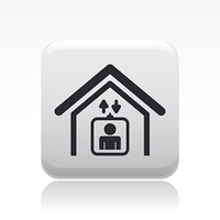 Vector illustration of single elevator icon