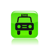 Vector illustration of isolated taxi icon