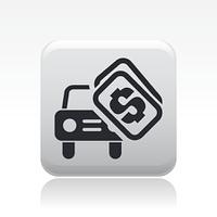 Vector illustration of single car sale icon