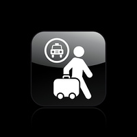 Vector illustration of single taxi station icon