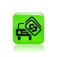 Vector illustration of single sale car icon
